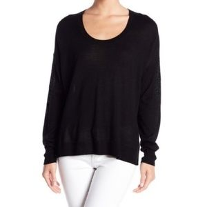 NEW Madewell Southstar Wool Blend Black Pullover